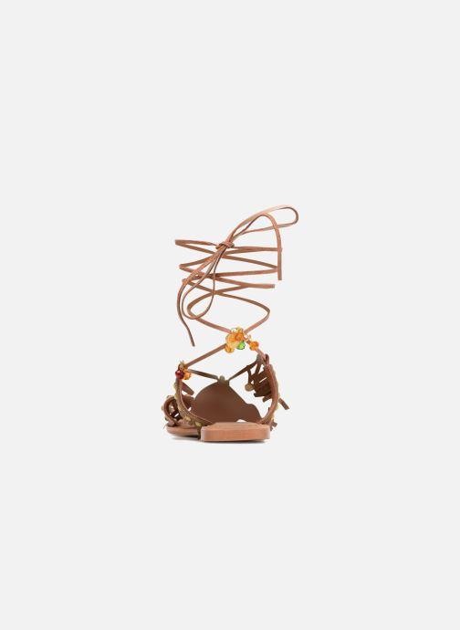 Sandales et nu-pieds Vero Moda Sikka leather sandal Marron vue droite
