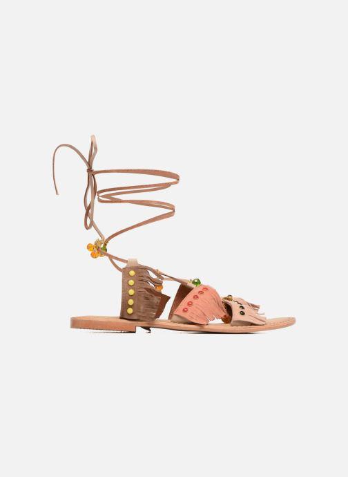 Sandales et nu-pieds Vero Moda Sikka leather sandal Marron vue derrière