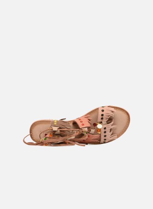 Sandales et nu-pieds Vero Moda Sikka leather sandal Marron vue gauche