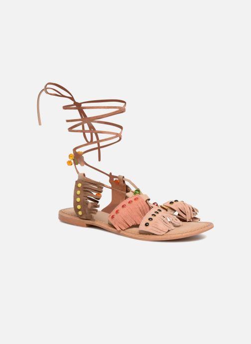 Sandales et nu-pieds Vero Moda Sikka leather sandal Marron vue détail/paire
