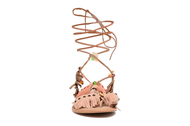 Sandalen Vero Moda Sikka leather sandal Bruin model
