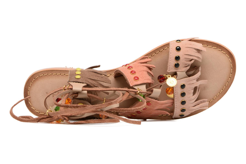 Sandalen Vero Moda Sikka leather sandal Bruin links