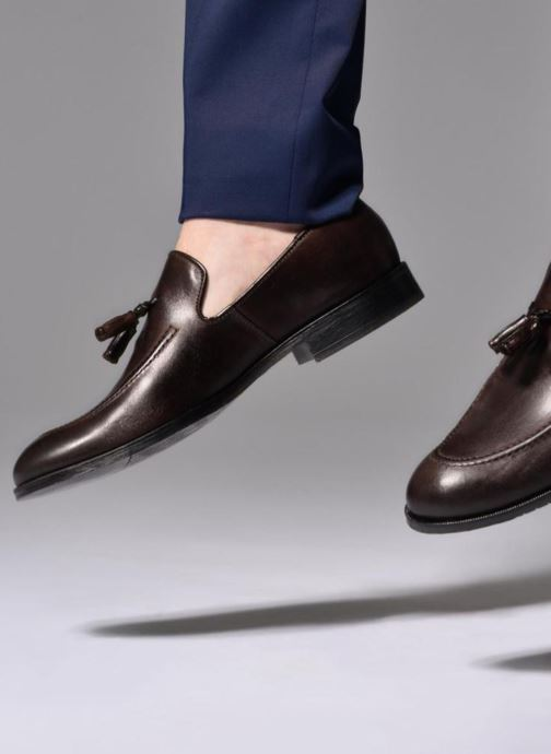 Loafers Marvin&co Newmains Brown view from underneath / model view