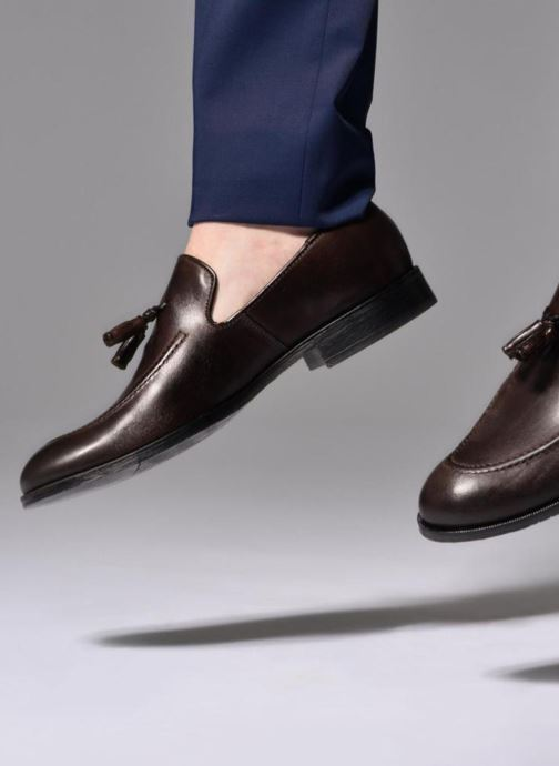 Loafers Marvin&co Newmains Black view from underneath / model view