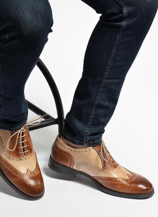 Lace-up shoes Marvin&co Noylow Brown view from underneath / model view