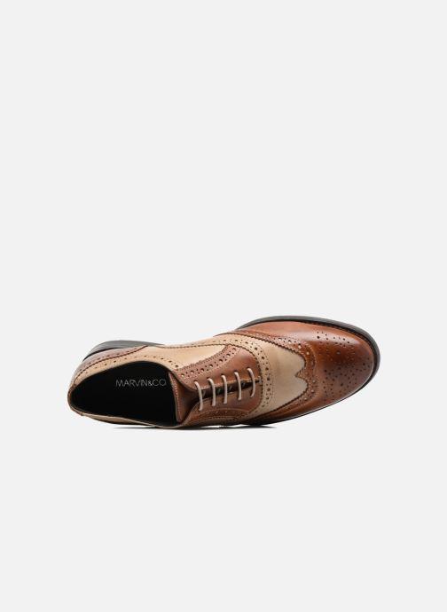 Zapatos con cordones Marvin&Co Noylow Marrón vista lateral izquierda