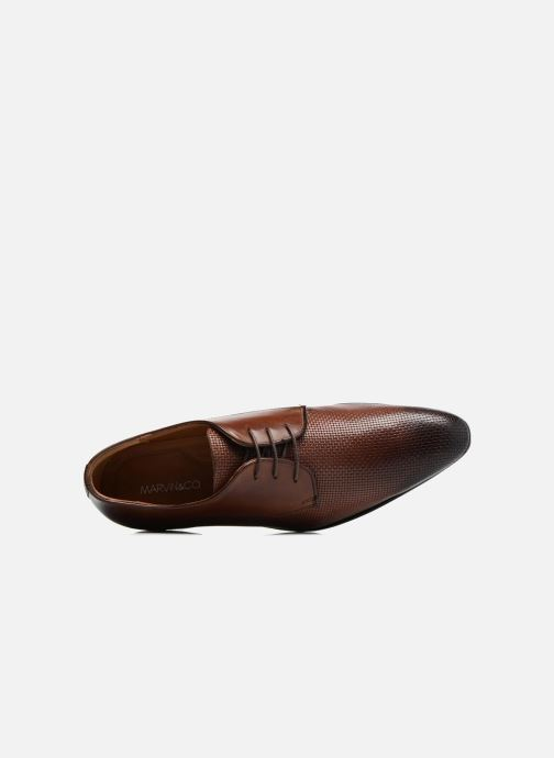 Lace-up shoes Marvin&co Narbroath Brown view from the left