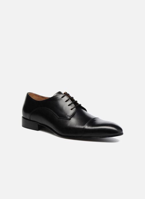 Snøresko Marvin&Co Newlyn Sort detaljeret billede af skoene