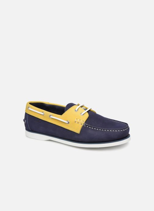 Lace-up shoes Aigle Havson Blue detailed view/ Pair view