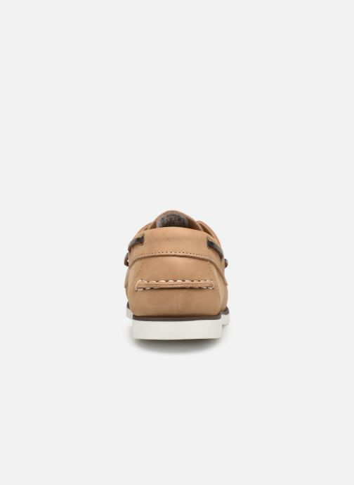 Lace-up shoes Aigle Havson Beige view from the right