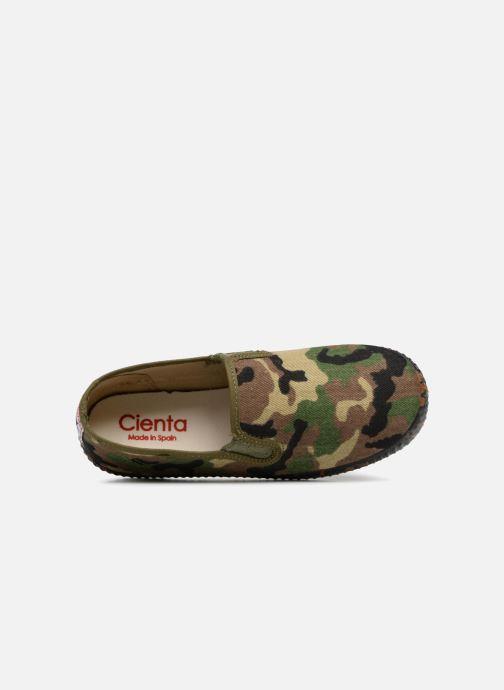 Sneaker Cienta Paulo grün ansicht von links