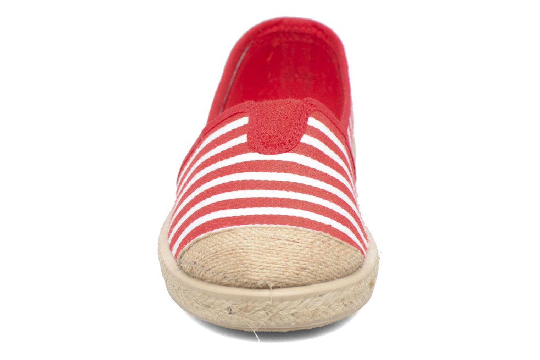 Espadrilles Cienta Pablo Rouge vue portées chaussures