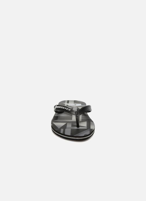 Tongs Quiksilver Moloch B Noir vue portées chaussures