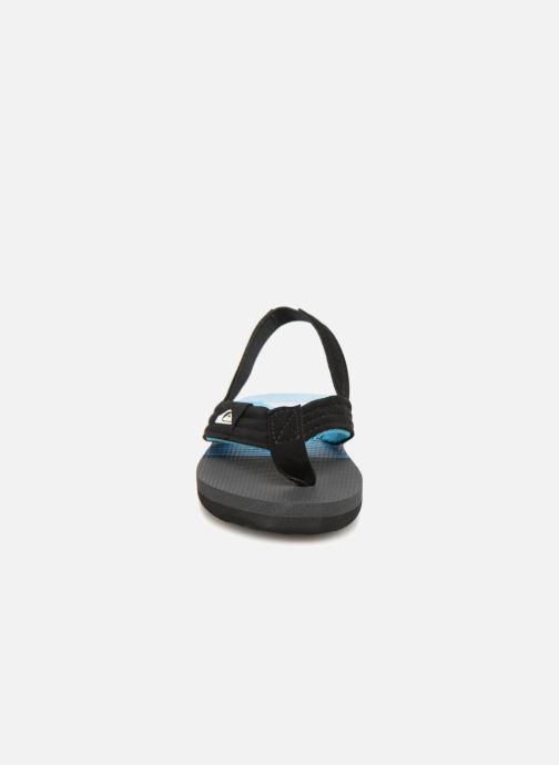 Tongs Quiksilver Molokai T Noir vue portées chaussures