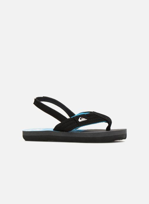 Flip flops Quiksilver Molokai T Black back view