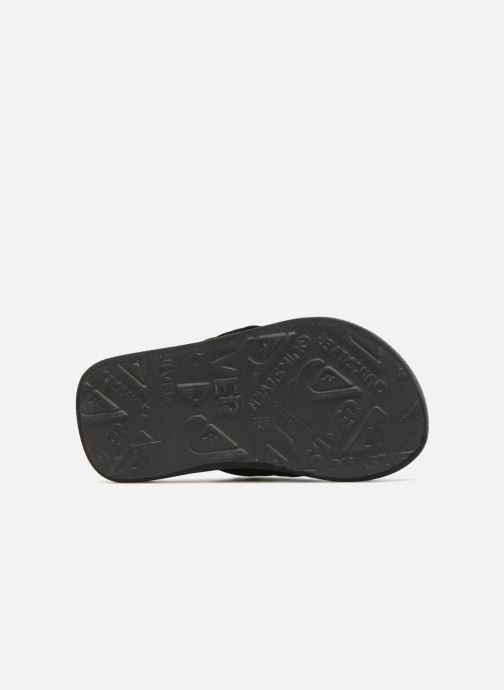 Flip flops Quiksilver Molokai T Black view from above