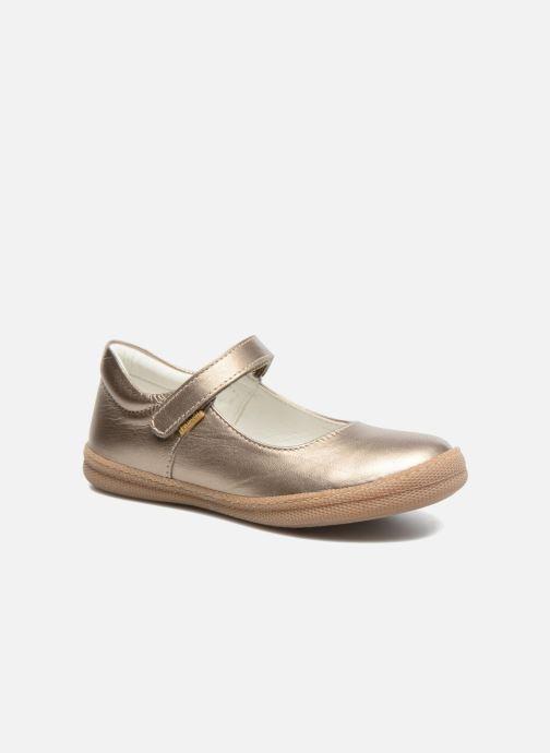 Ballerines Primigi Classica Or et bronze vue détail/paire
