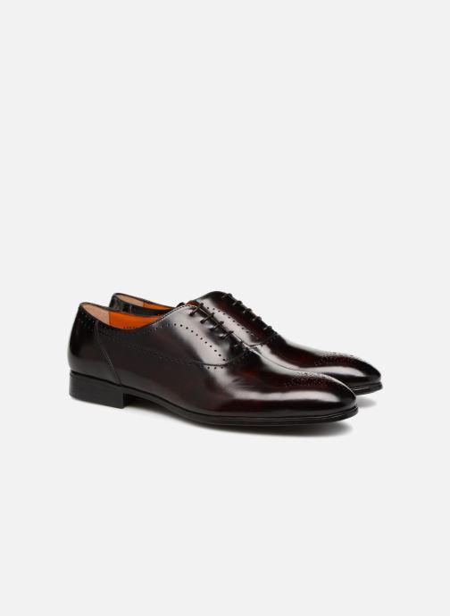 Lace-up shoes Santoni Simon 15576 Burgundy 3/4 view
