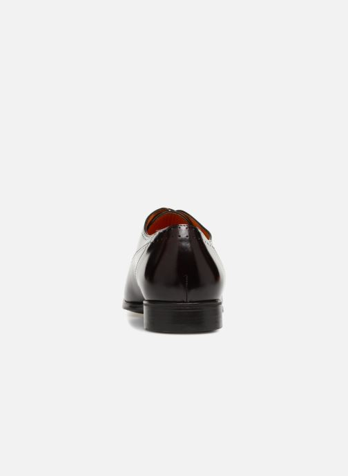 Lace-up shoes Santoni Simon 15576 Burgundy view from the right