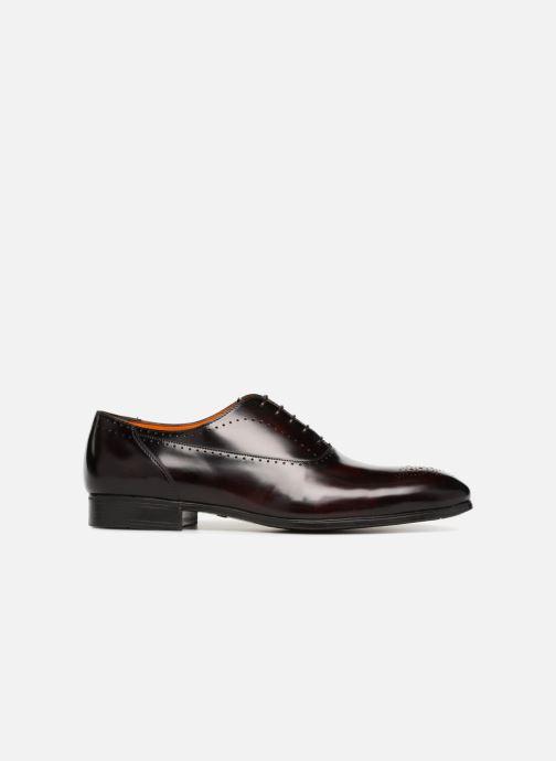 Lace-up shoes Santoni Simon 15576 Burgundy back view
