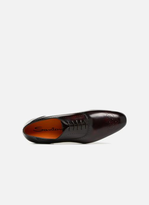 Lace-up shoes Santoni Simon 15576 Burgundy view from the left
