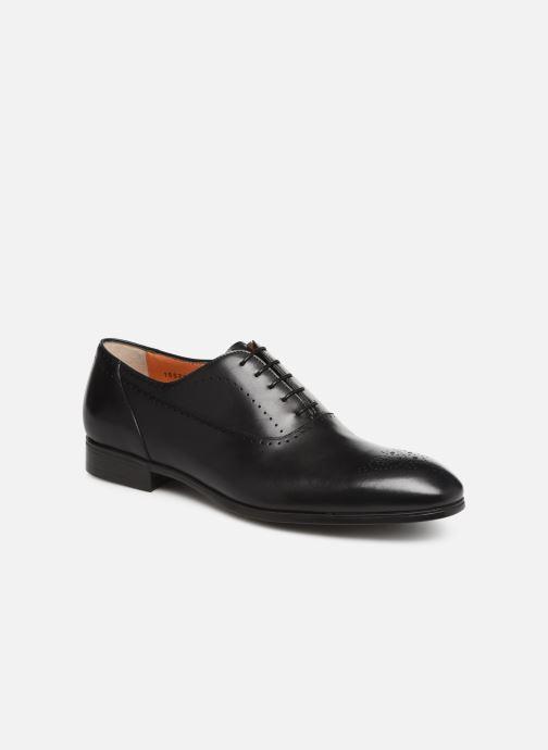 Chaussures à lacets Santoni Simon 15576 Noir vue détail/paire