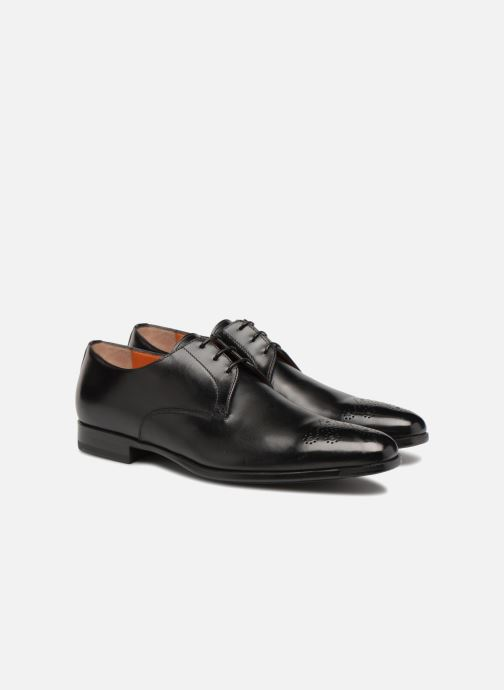 Lace-up shoes Santoni William 12381 Black 3/4 view