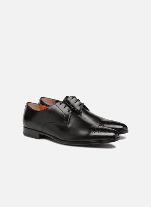 Lace-up shoes Santoni William 12381 Black 3/4 view