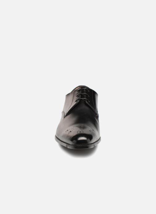 Chaussures à lacets Santoni William 12381 Noir vue portées chaussures