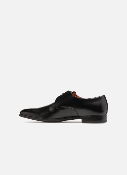 Lace-up shoes Santoni William 12381 Black front view
