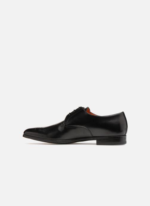 Lace-up shoes Santoni William 12381 Black front view