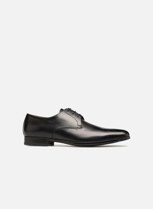 Zapatos con cordones Santoni William 12381 Negro vistra trasera