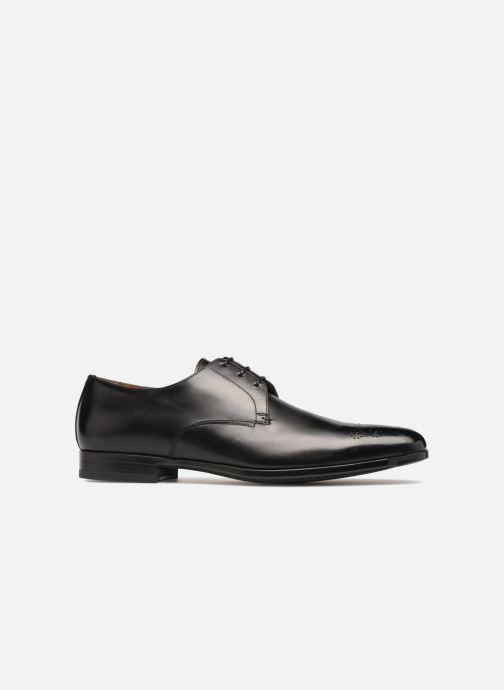 Zapatos con cordones Santoni William 12381 Negro vistra trasera