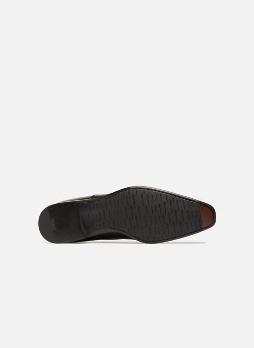 Chaussures à lacets Santoni William 12381 Noir vue haut
