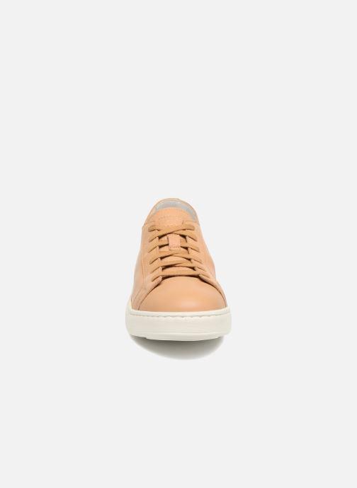 Baskets Santoni Clean Icon W Beige vue portées chaussures