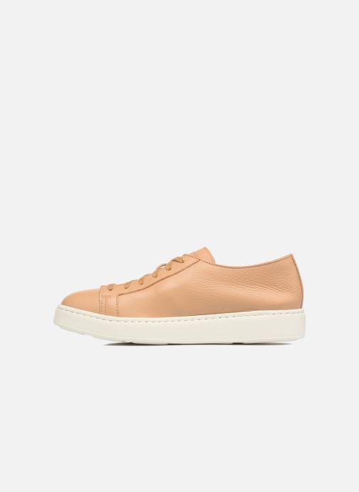 Sneakers Santoni Clean Icon W Beige voorkant