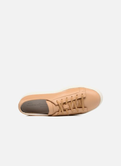 Trainers Santoni Clean Icon W Beige view from the left