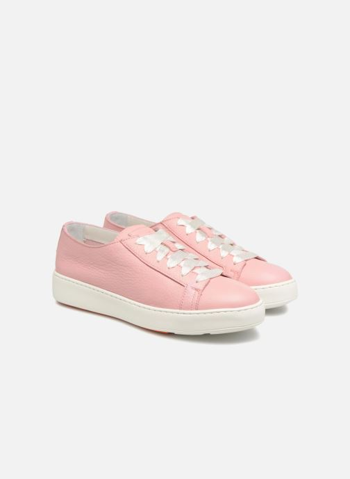 Trainers Santoni Clean Icon W Pink 3/4 view