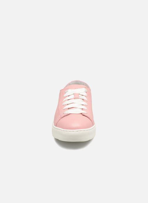 Baskets Santoni Clean Icon W Rose vue portées chaussures