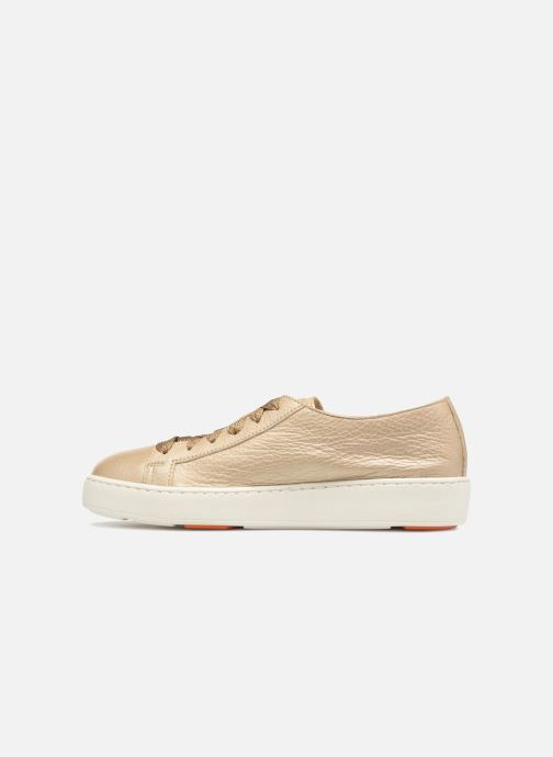 Trainers Santoni Clean Icon W Bronze and Gold front view