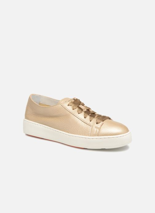 Trainers Santoni Clean Icon W Bronze and Gold detailed view/ Pair view