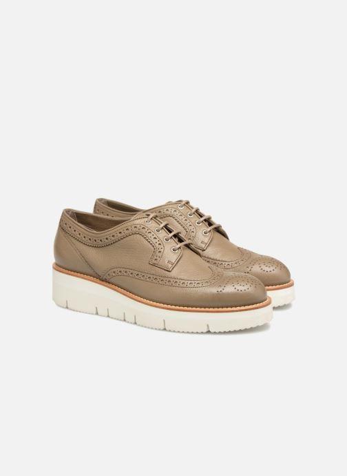 Lace-up shoes Santoni Siby 55519 Grey 3/4 view
