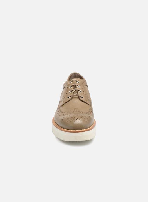 Lace-up shoes Santoni Siby 55519 Grey model view