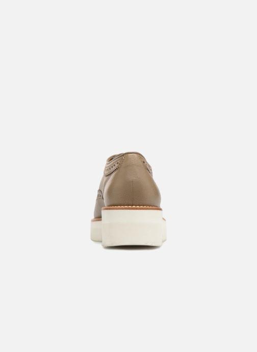Zapatos con cordones Santoni Siby 55519 Gris vista lateral derecha