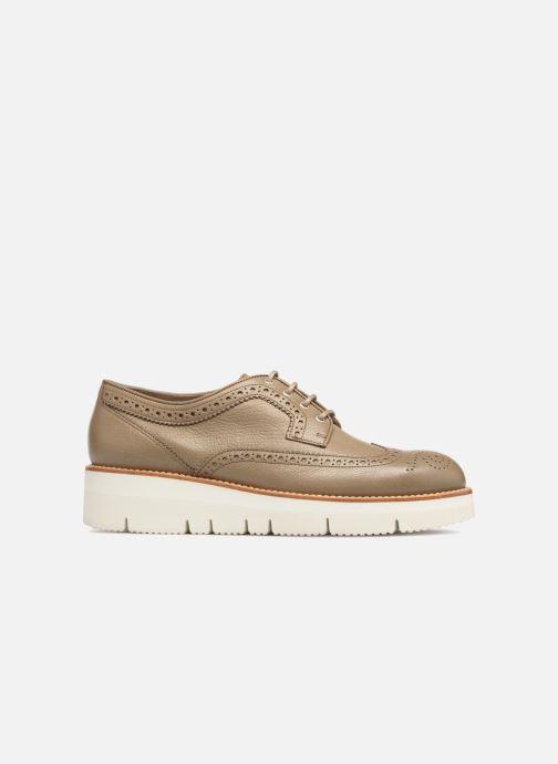 Zapatos con cordones Santoni Siby 55519 Gris vistra trasera