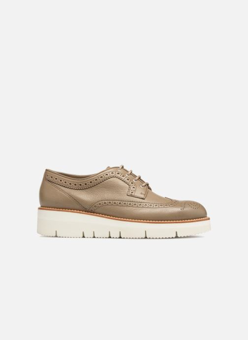 Lace-up shoes Santoni Siby 55519 Grey back view