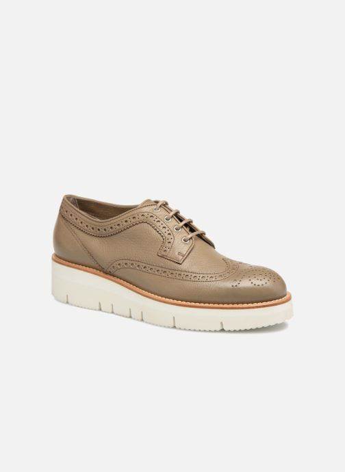 Lace-up shoes Santoni Siby 55519 Grey detailed view/ Pair view