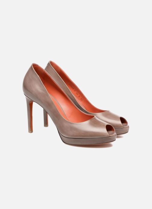 High heels Santoni New Leandra 55538 Beige 3/4 view