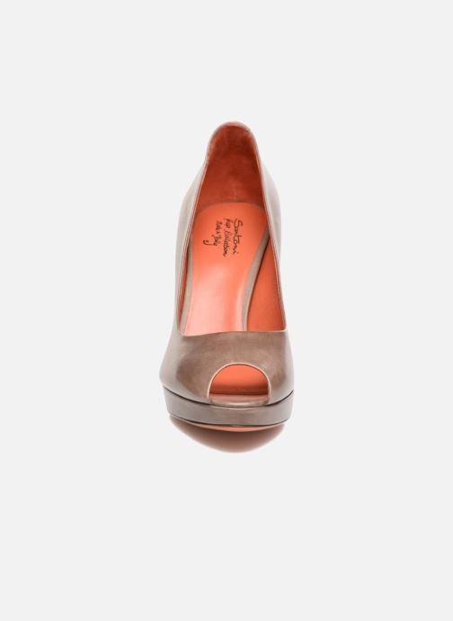 Escarpins Santoni New Leandra 55538 Beige vue portées chaussures