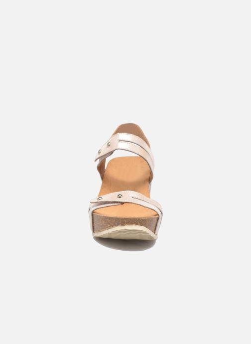 Sandales et nu-pieds Rondinaud Benovie Rose vue portées chaussures